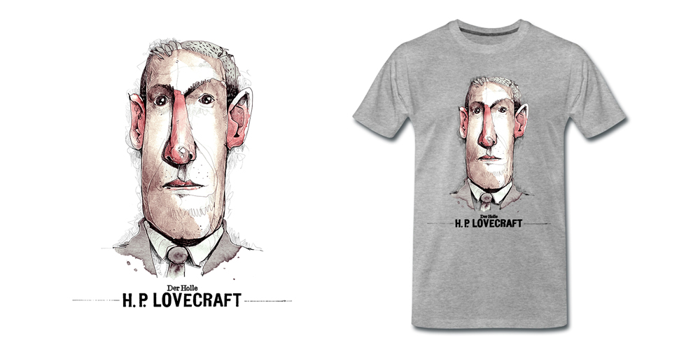 Lovecraft Aquarell